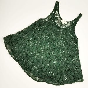Staring at Stars Crocheted Lace Flowy Tank